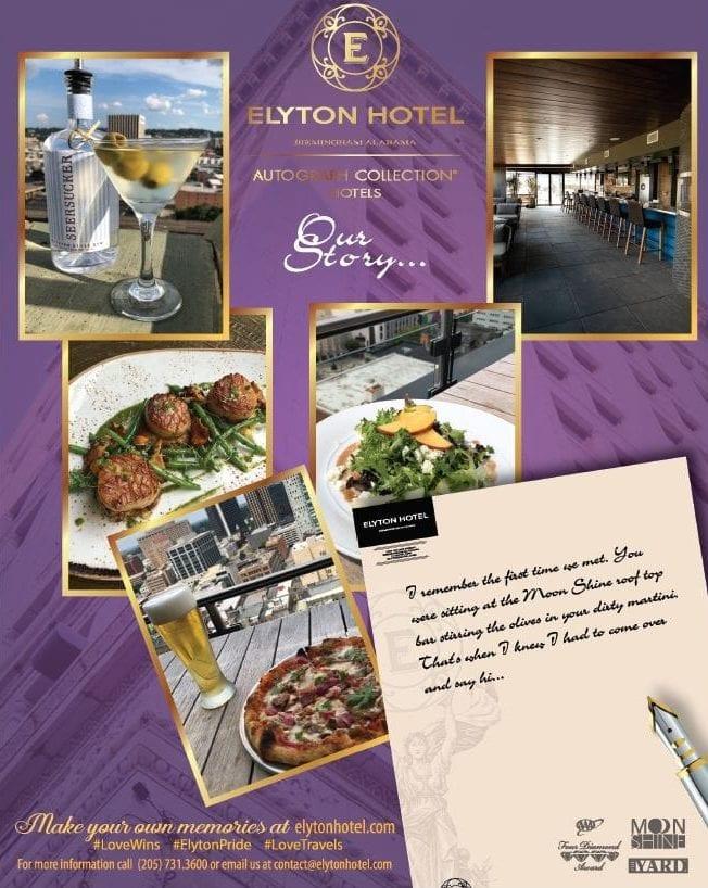 graphic card design elyton hotel flyer