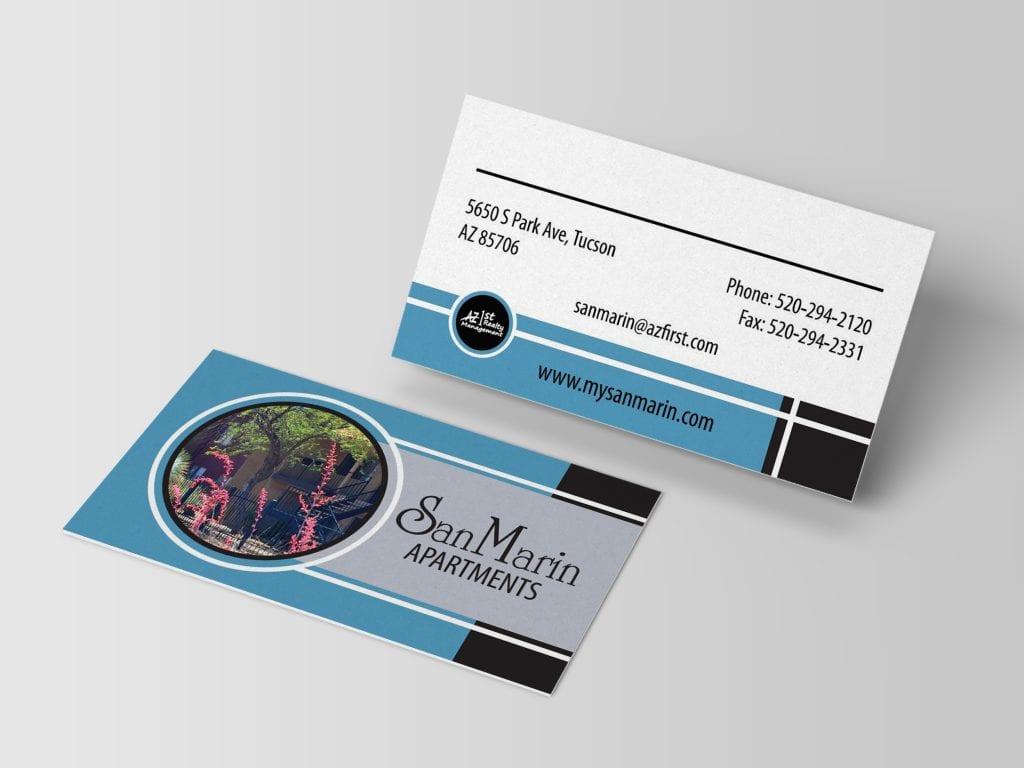 San Marin business card design