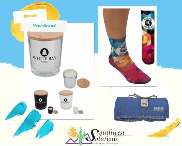 home goods branding material opportunities socks candles blankets