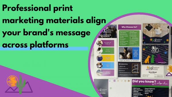 professional print marketing materials