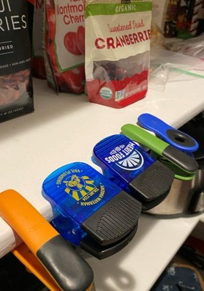 assorted chip clips with custom company logos